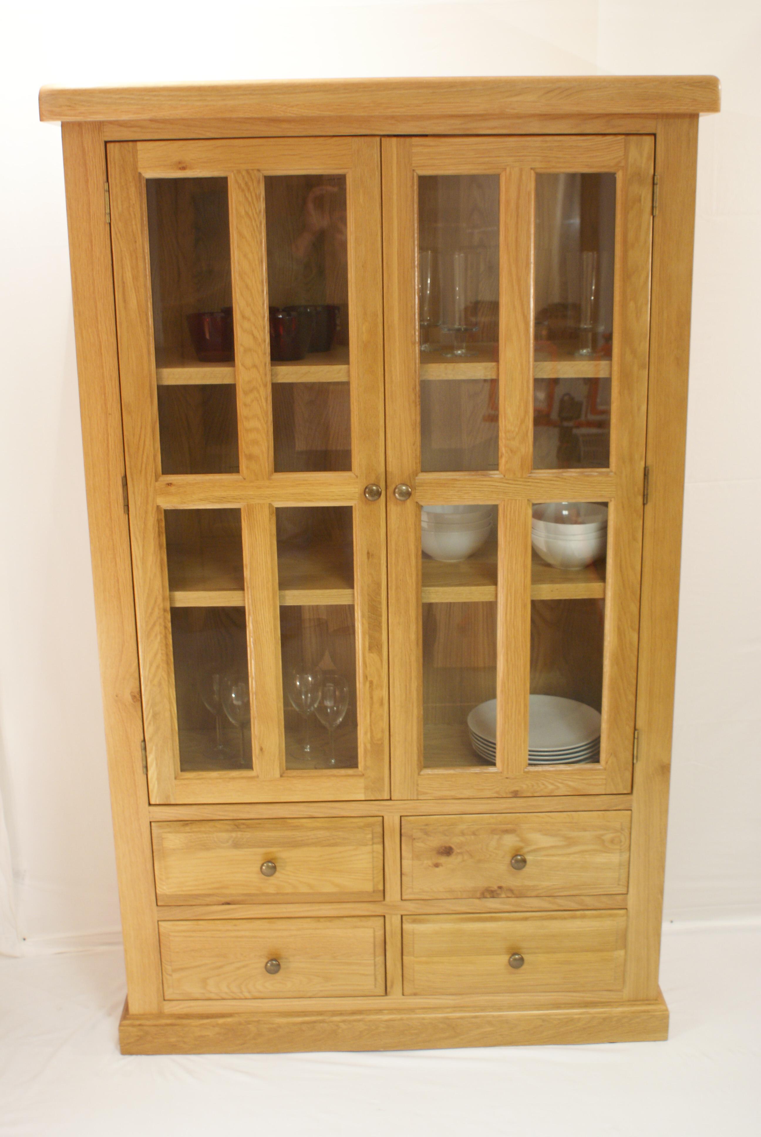 Buckingham glazed display cabinet glenross furniture for Buckingham kitchen cabinets