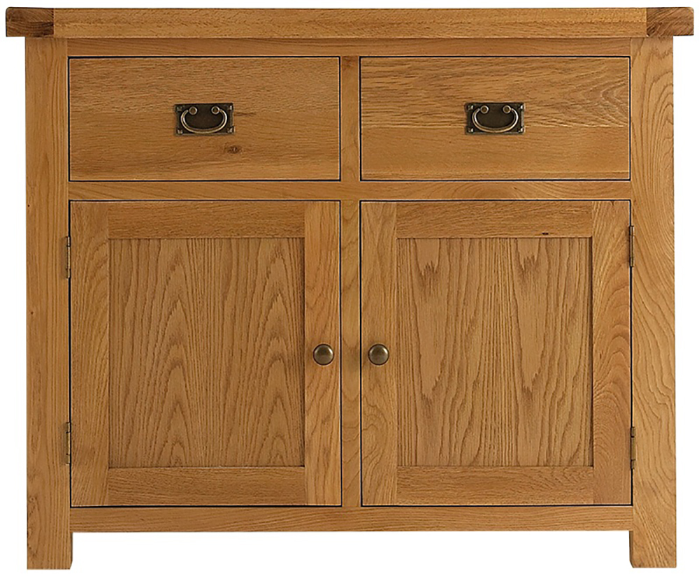 Galloway oak 2 door sideboard glenross furniture for Door furniture uk