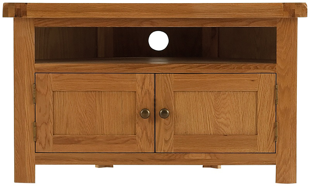 galloway oak corner tv unit glenross furniture